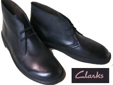 クラークス新品ブッシュエーカー2 デザートブーツ26129527黒us8
