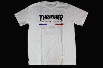 スラッシャー・スケーター系Tシャツ・新品・入荷・Sサイズ・白・�C