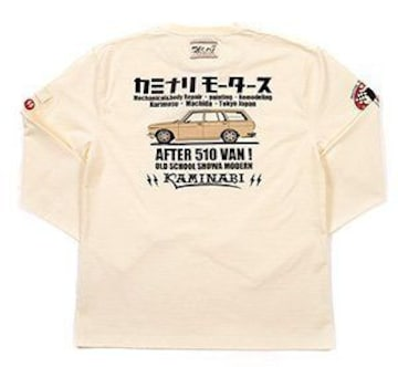 カミナリ雷/510ブルーバード/ロンT/白/kmlt-176/エフ商会/テッドマン/カミナリモータース