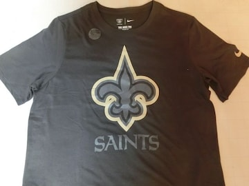 ナイキ【DRI FIT】NFL【New Orleans Saints】ロゴT US L