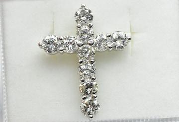 【鑑別】Pt900 クロス 十字架 2.00ct ダイヤモンド トップ