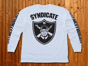 RhymeSyndicate★シンジケート★ロンT★新品★M★白