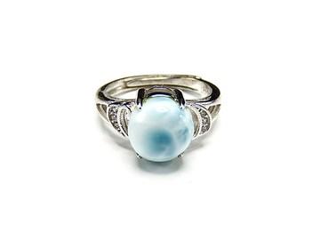 ラリマー指輪リングAAAA天然石一点物13.5号石街U0224愛と平和