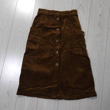 ダブルクローゼット w closet丈67ウエストはゴムひざ丈スカート