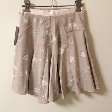 アンミール ピンク お花柄 フラワー フレア スカート