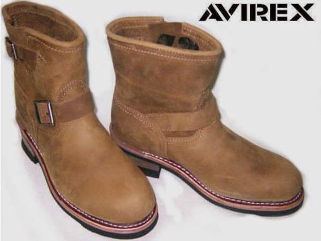 アビレックスAVIREX新品ショート エンジニア ブーツ2225茶us6  < 女性ファッションの