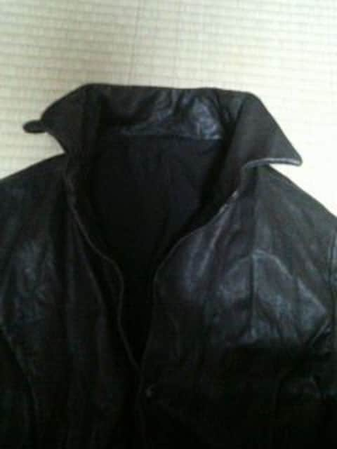 カルペディエムレザーシャツジャケットcdiemwjk黒茶akm < 女性ファッションの