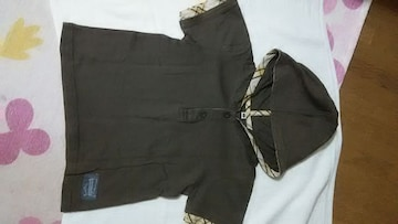 【サイズ110】フード付き半袖シャツ