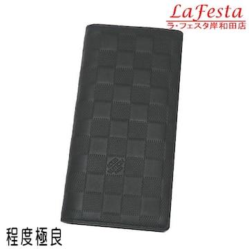 本物美品◆ヴィトン【人気】ダミエアンフィニ長財布ブラザ/袋箱