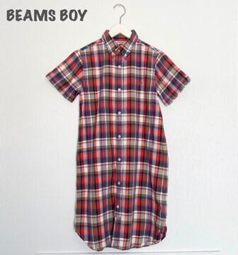 【BEAMS BOY】チェックシャツワンピース ビームスボーイ