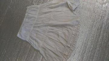 白ロングスカート 春夏物 Lサイズ
