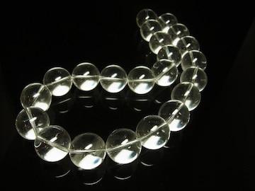 運気を上昇 本水晶クリスタルネックレス 開運天然石20ミリ数珠