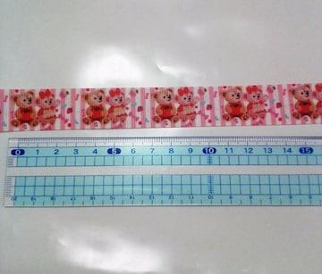 sale【スイーツ】22mm巾 ダッフィー&シェリーメイ柄リボン1M