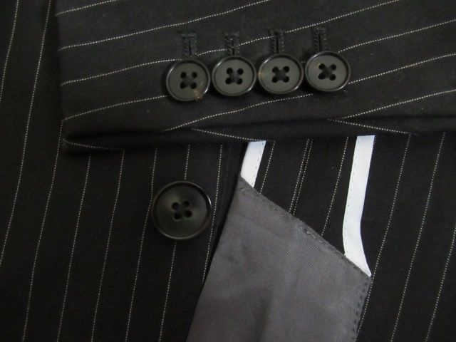 人気ブランド&新品同様★THE SUIT COMPANY★毛/黒系/YA4 W76 < 男性ファッションの