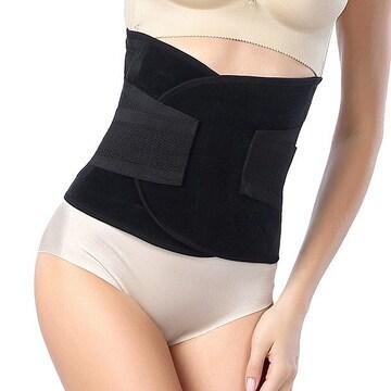 本気の腰痛対策! 加圧 幅広 腰痛ベルト 黒 L //ay8