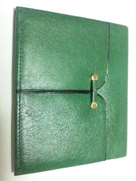 12358/未使用品のグリーン系カラーの2つ折り財布お金が貯まる