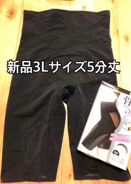 新品☆3Lサイズ骨盤インスパイリングショーツ5分丈ガードルj881