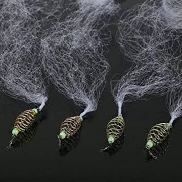 色12目 4個 投網 漁具 投げ網 仕掛け網 魚捕り用 釣りネット 漁