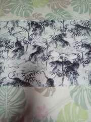 ☆新柄白×竹林に虎柄手ぬぐい36×100