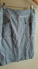 ■秋物美品BOSCHグレー大きめポケットスカート■