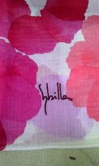 ピンク花柄ハンカチ
