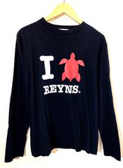 reyn spooney■ロングTシャツ■プリント■亀■レインスプーナー
