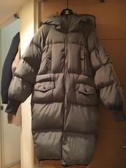送料込大きいサイズグレー中綿コート