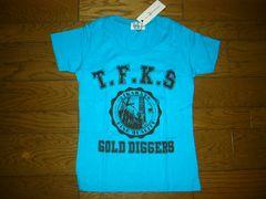 新品GOLD 24karats Diggersカレッジ系TシャツXS青カラッツEXILE