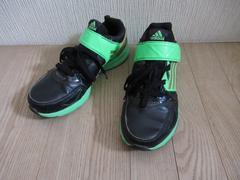 人気美品★アディダス/adidas★革/黒系/23.5★送500円可