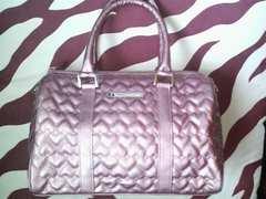 サマンサベガ2WAYハートキルティングバッグ美品シャーベットカラー通勤OLマザーズバッグ