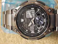 CASIO海外アナデジ腕時計AQ-190W中古品