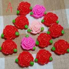 702 A☆13コ☆薔薇☆バラ☆約1.8cm☆プラスチックパーツ
