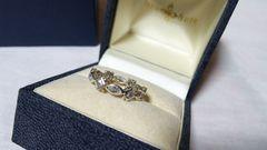 正規美 ラブ&ヘイト プリンセスリング 9号 クリスタルオープンクロスSV 指輪 ローリーロドキン