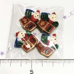 25*�@スタ*クリスマス♪デコパーツ*サンタさん*195