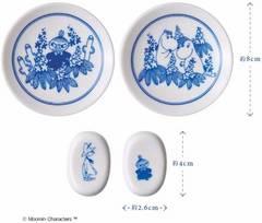 クックパッドプラス2019年1月号ムーミン新年の食卓が華やぐ豆皿&箸置きセット