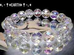 天然石★10ミリ64面カットアクアクリスタル水晶AAA