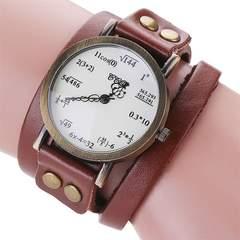 数式 腕時計 レザー ダブルベルト