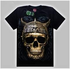 夜光 骸骨 どくろ 死神Tシャツ 半袖#2 サイズXL