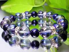 蒼と聖石の色合い天然石☆アクアオーラブルー・ラピスラズリ瑠璃