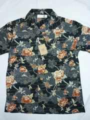 新品!チリメン和柄半袖シャツ・BM ちりめん東洋