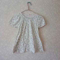 1度使用♪UNIQLOユニクロ(ローラアシュレイ・コラボ)女の子用140パフスリ半袖Tシャツ