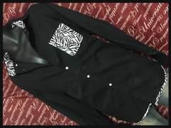 4L・ゼブラ使いシャツ新品黒/MCW‐611
