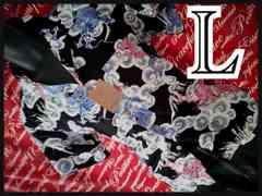 L・和柄龍×夜空レーヨンアロハシャツ 新品/MC01P407‐706s