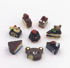 【¥480→¥430値下げ】チョコレートケーキ ミニチュア8個セット