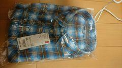 大きいサイズ3XLUNIQLOユニクロブルーフランネルチエックシャツ新品タグ付き。