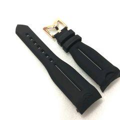 GaGa MILANO/ガガミラノ48mmラバーベルト ブラック×ゴールド 定価16200円