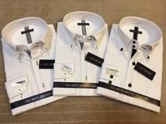 新品・長袖ワイシャツ 「おしゃれな」3枚セット Lサイズ