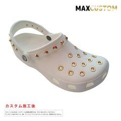 クロックス crocs パンク 純金メッキ カスタム 白金 22-29 新品