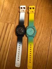 NIXONニクソン腕時計2本まとめ売りイオンにて購入正規品