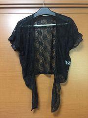 送料込み♪美品♪オシャレ♪レース 羽織り ボレロ♪半袖♪
